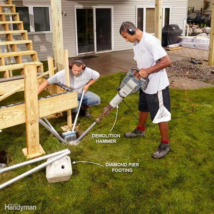 how to prepare to pour a concrete deck