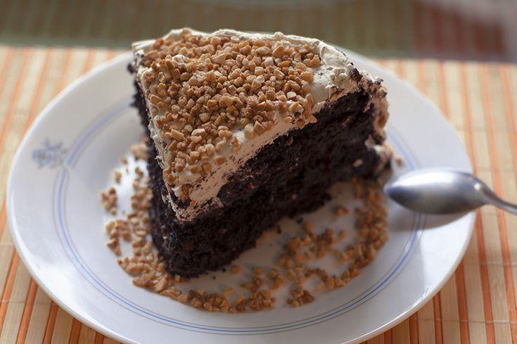 Receta vegana de layer cake de vainilla y chocolate. Sin huevo y sin lactosa . Cocina vegetariana y veganismo.