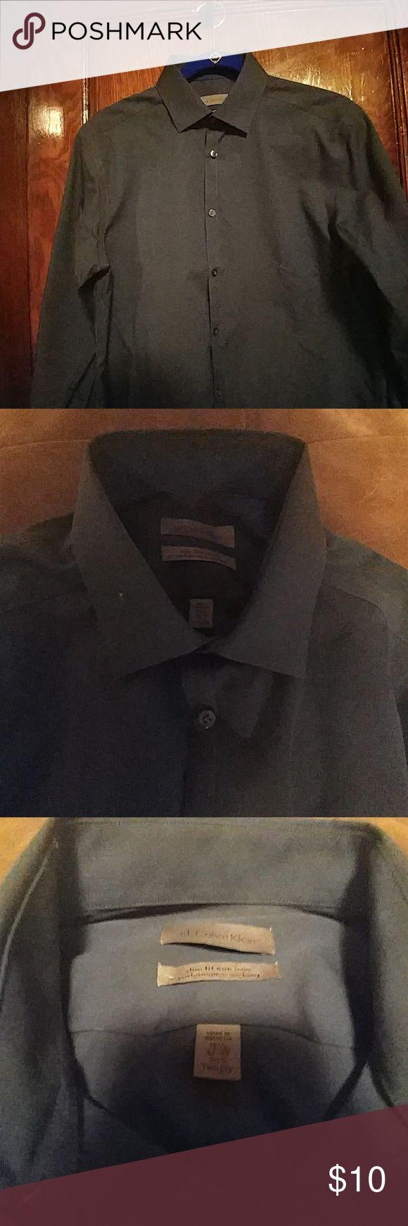 Mens navy blue dress shirt Ck Calvin Klein navy blue slim fit dress shirt Shirts Dress Shirts