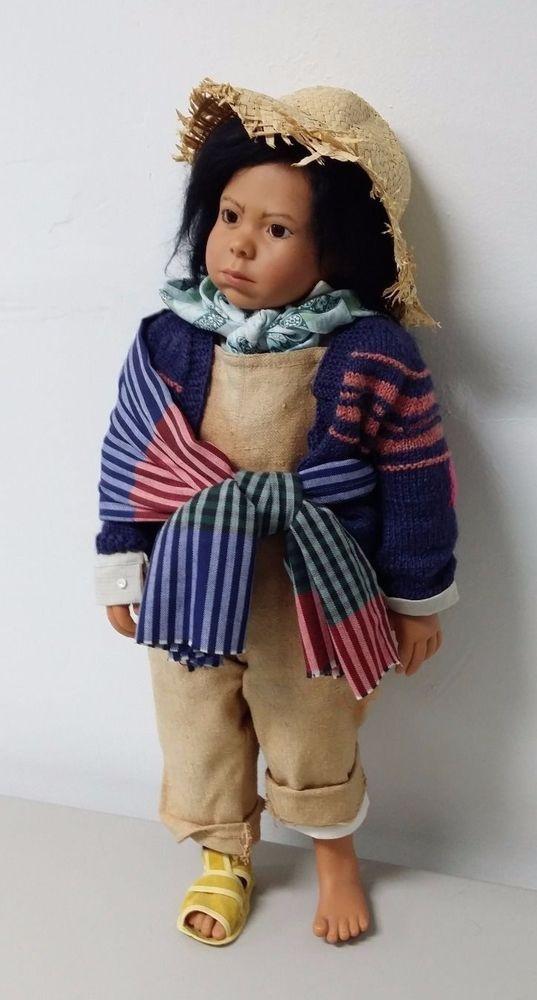 "Gotz ""Manolo"" by Karin Schmidt Children of This Earth 1992 LE Vinyl Boy Doll 24"" #Gotz"