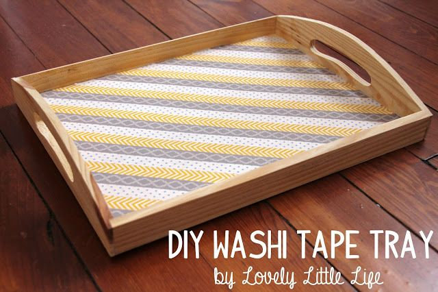 DIY Washi Tape Tray by Lovely Little Life