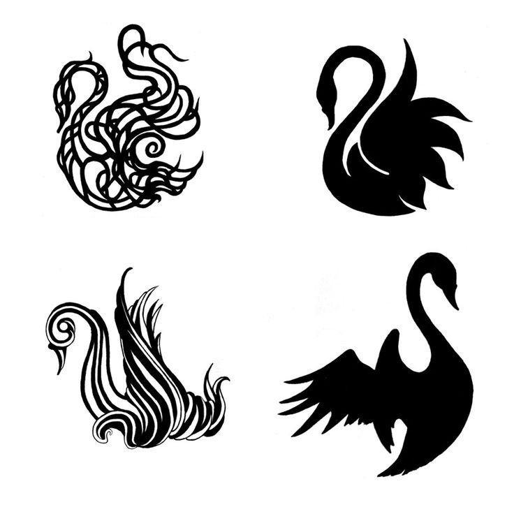 black swan tattoo. really like the two on the right