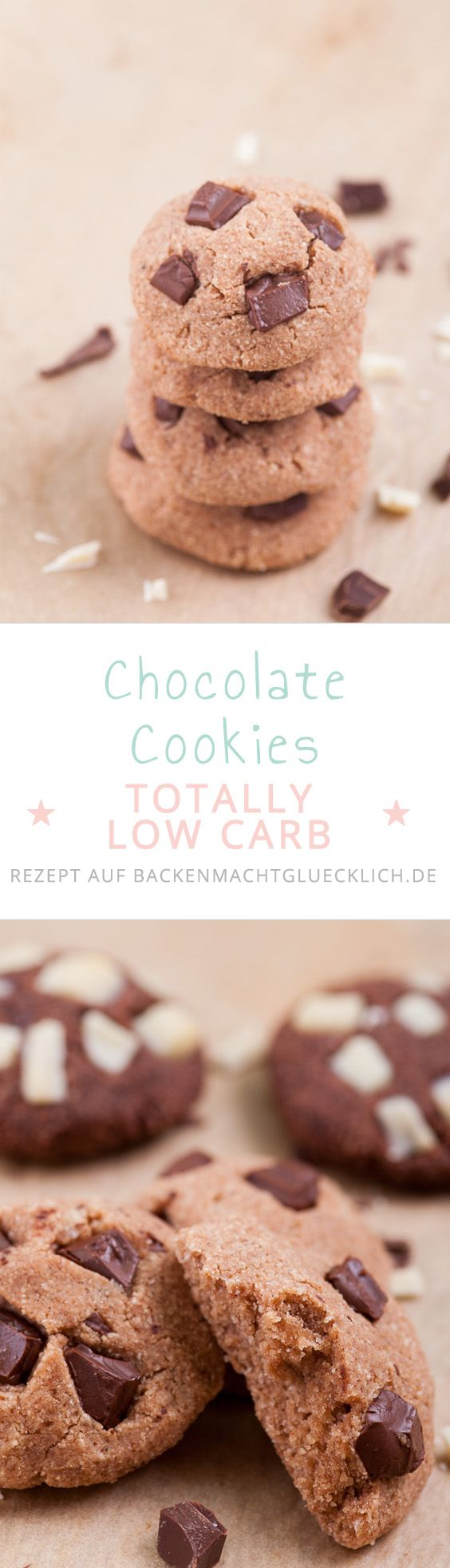 Low Carb und Chocolate Cookies? Klingt wie ein Widerspruch, muss es aber nicht sein. Ich habe tief in die Trickkiste gegriffen, und habe ein ganz leckeres, leichtes (und auch noch glutenfreies) Rezept für diese Cookies entwickelt.