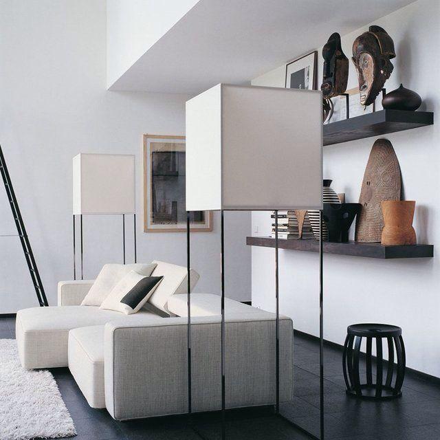 Contemporary interior with ethnic accessories