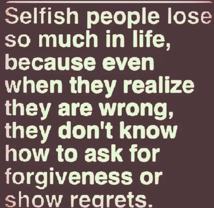Living with a selfish partner