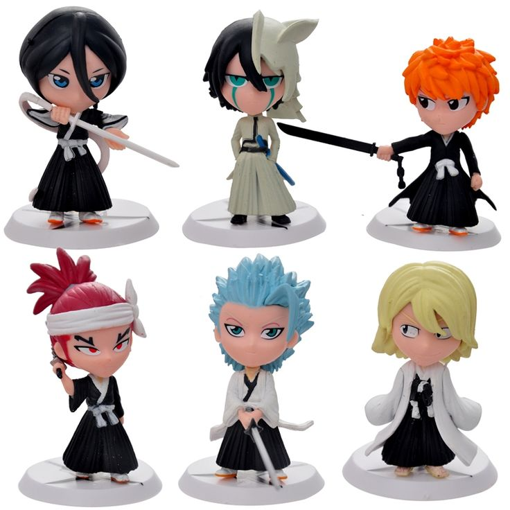 9.79$  Buy here - http://alirup.shopchina.info/go.php?t=32320213443 - 6pc/set Bleach Ichigo Ulquiorra cifer Renji Gin Action Figures Anime PVC brinquedos Collection Figures toys for Birthday gifts  #magazineonline
