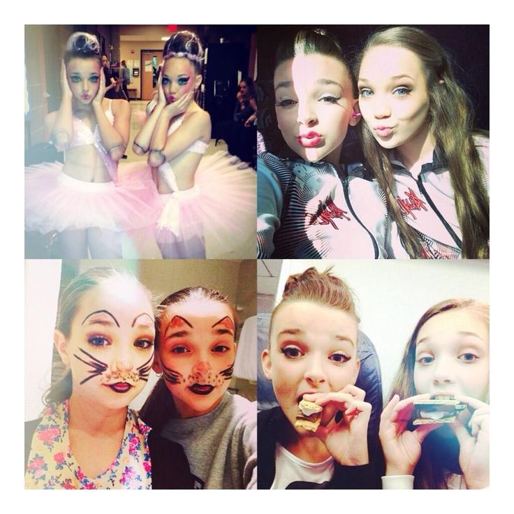 A collage of Kendall Vertes and Maddie Zigler   ~Emily Lime❤~