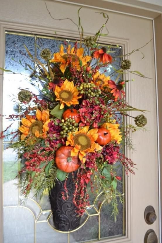 fall front door decorations18 best fall front door decorations images on Pinterest  Front