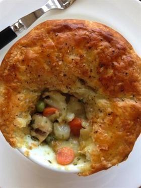 Amazing Ina Garten Chicken Pot Pies  {Filling is Creamy Chicken Stew}