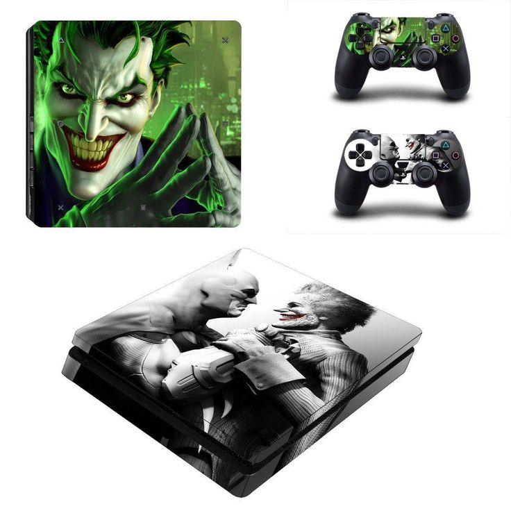Batman vs joker ps4 slim edition skin decal for console and 2 controllers
