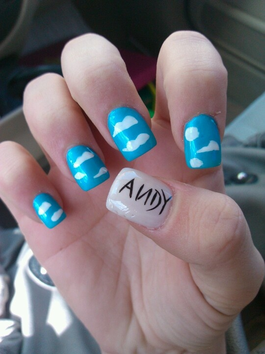 toy story nails....cute!