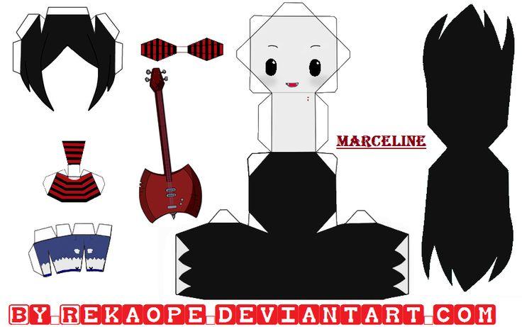 Marceline - Adventure Time [PAPERCRAFT] by ~RekaOpe on deviantART