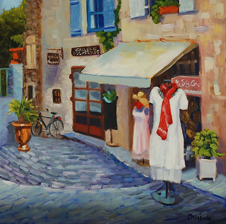 French Boutique by Durinda Cheek Oil ~ 12 x 12