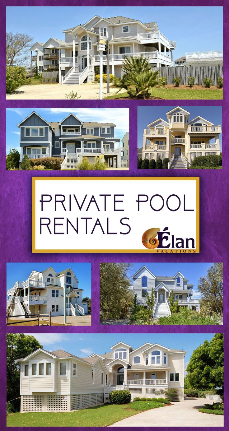 How would you like to be relaxing by the private pool at your OBX beach vacation rental home? View these gorgeous OBX rental homes with POOLS!