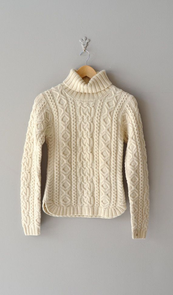 cable knit sweater | vintage fishermans sweater: