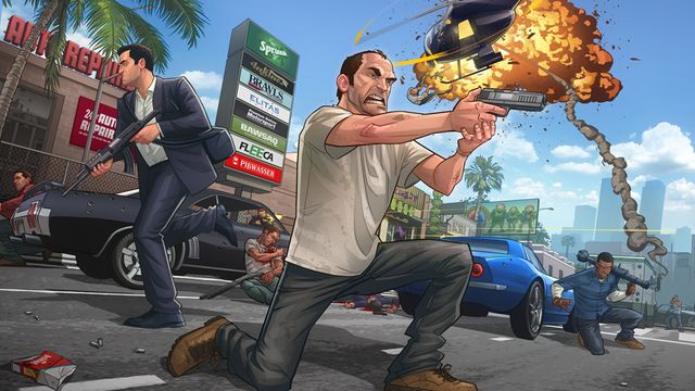 Australian artist Patrick Brown updated his gallery with an intense Grand Theft Auto V piece to celebrate