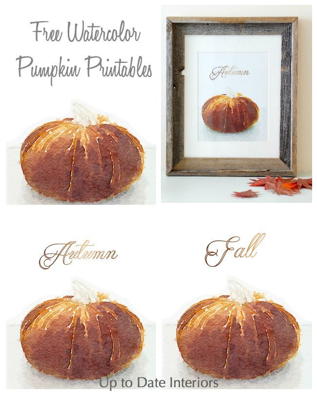 Fall Pumpkin Printables for your holiday decor! Feel free to download for your personal use.