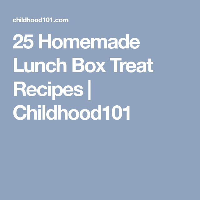 25 Homemade Lunch Box Treat Recipes   Childhood101