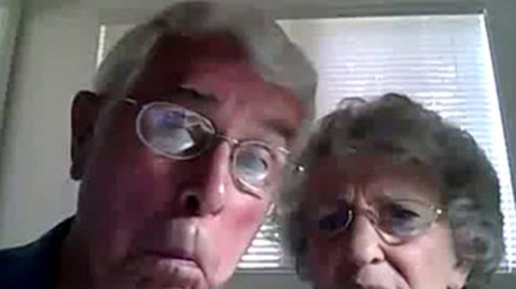 This video is quickly going viral, showing an older couple checking out their new computer, not aware that their webcam experimentations are being recorded.