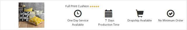 Custom Full Print Sarung Bantal Kotak Berkualitas by DIGITHING