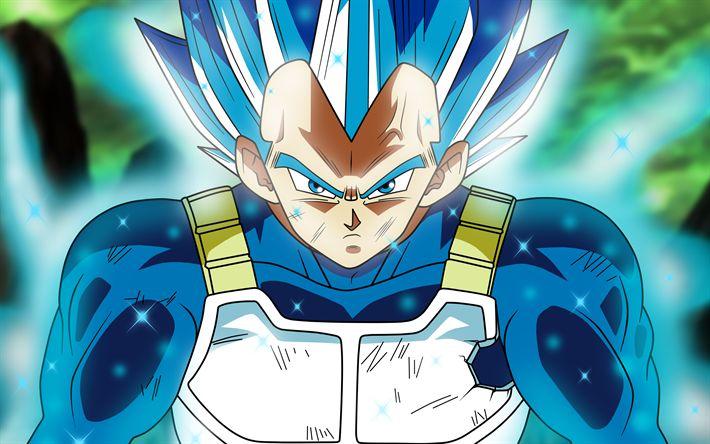 Télécharger fonds d'écran 4k, Super Saiyan Bleu, de l'art, Dragon Ball, DBS, Dragon Ball Super