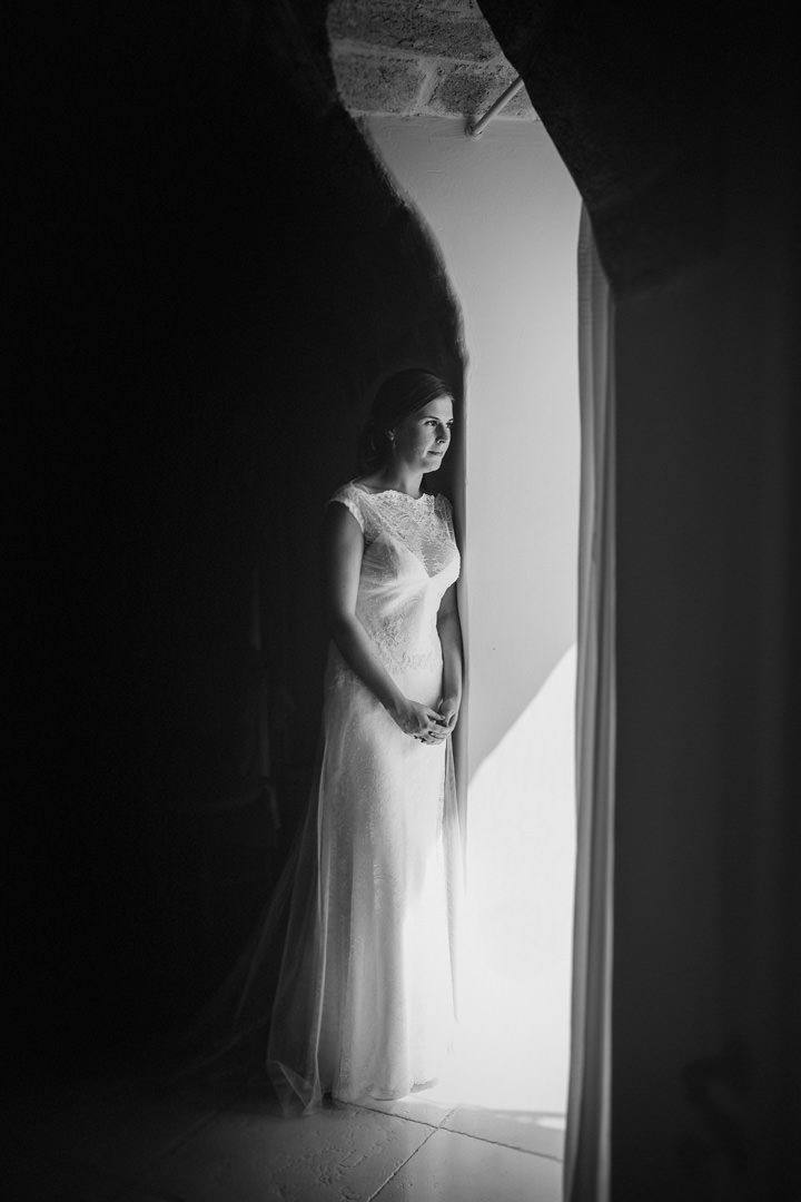 The beautiful bride is ready. Photo by Benjamin Stuart Photography #weddingphotography #italianwedding #weddingdress #bride #herecomesthebride #weddingday