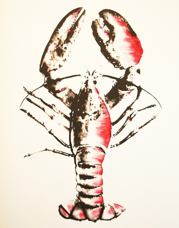 Watercolor Lobster  #JoesCrabShack