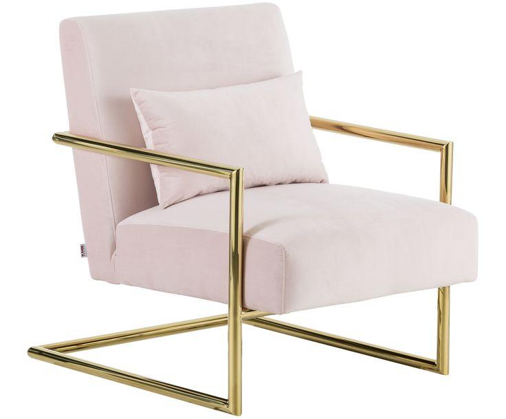 Mit Samt-Sessel Vegas in Rosa von KARE verwandeln Sie Ihr Wohnzimmer in eine Wohlfühloase. Entdecken Sie weitere hochwertige Möbel auf >> WestwingNow.