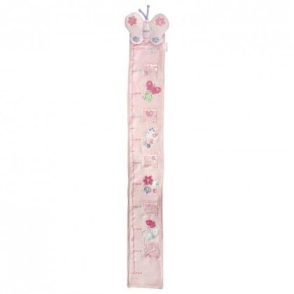 Bubba Blue Butterfly Garden Growth Chart. Capture every moment with the Butterfly Garden Growth Chart from Bubba Blue. Measuring up to 150cm, this cute and cosy cotton velour chart features clear pockets that are great for displaying family snaps and tracking your newborn as they sprout.