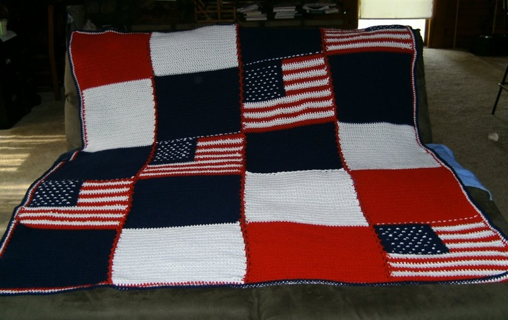 Patriots Crochet Afghan Pattern : Crochet patriots afghan. The flag pattern is Crochetville ...