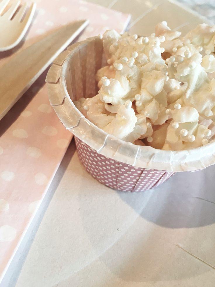 #babyshower #popcorn #sweet #candymelts #pink #prinsessepopcorn #perlestrøssel