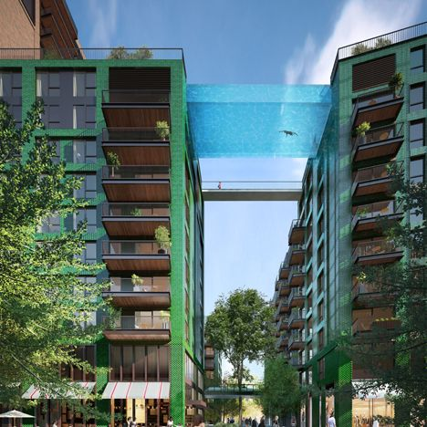 Glass-bottomed swimming pool to be suspended 10 storeys above south London