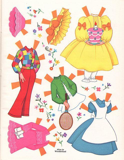 Alice in Wonderland Paper Dolls | Flickr - Photo Sharing!