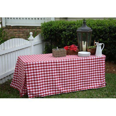 Tablevogue Fitted Tablecloth Color: Red