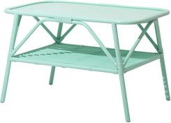 Cane Coffee Table Mint