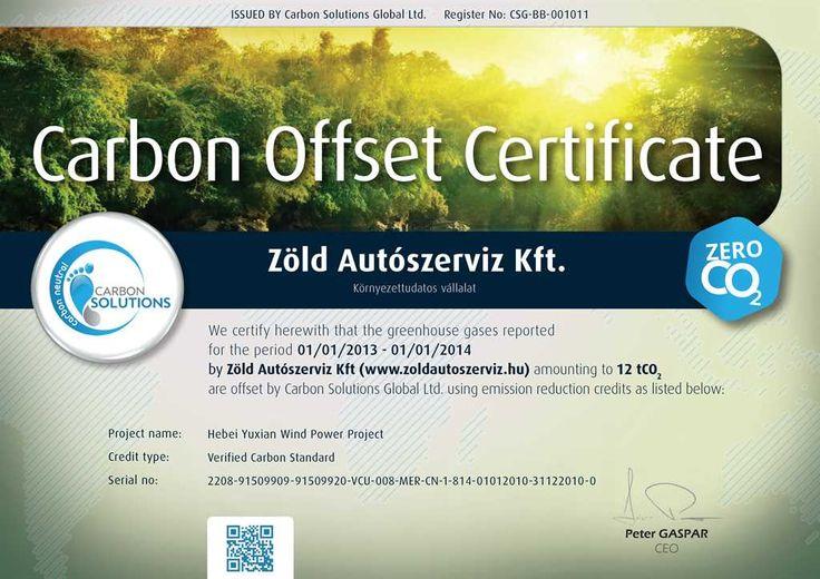 A Zöld Autószerviz Kft. továbbra is karbonsemlegesen folytatja tevékenységét. http://zoldautoszerviz.hu/