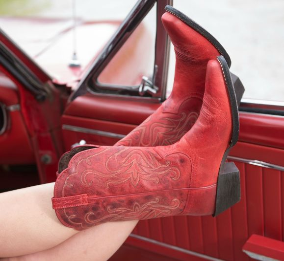 Ariat Legend Boot - Redwood Rock red cowgirl boots for the 4th of July!