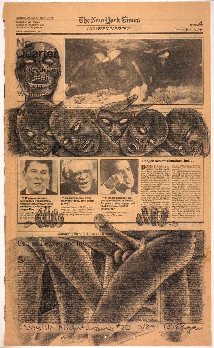 Vanilla Nightmares #20, by Adrian Piper, 1989