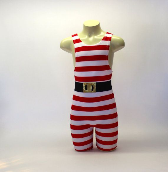 Big Kids High Neck Circus Strongman Costume with Belt by Leotots
