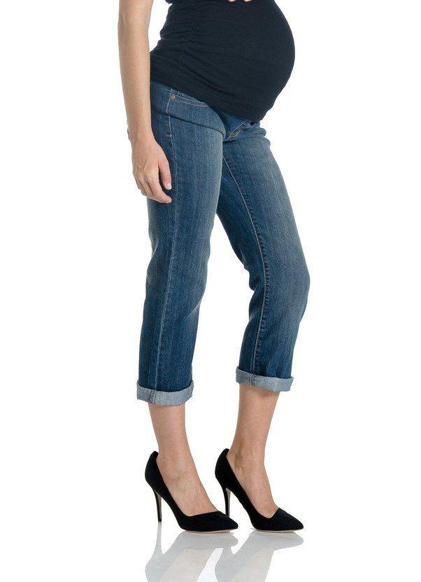 Lilac Maternity Slim-Leg Boyfriend Jeans