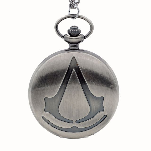 New Fashion Bronze Assassin's Creed Sci-Fi Movie Quartz Pocket Watch Analog Pend