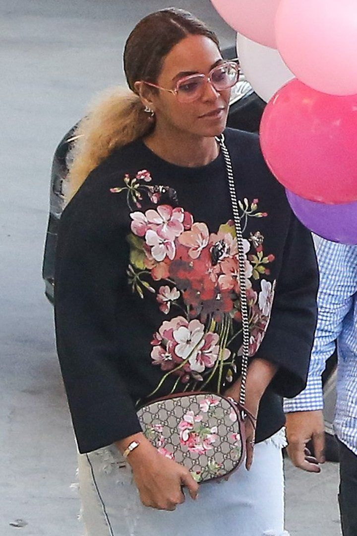 Beyoncé and Jay Z Rock Matching Outfits at a Children's Birthday Party