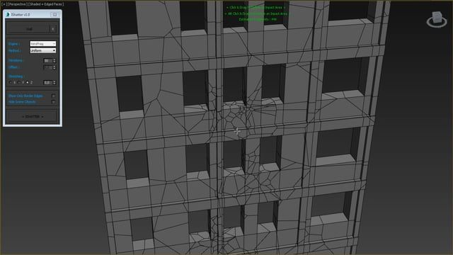 The first release of IShatter for 3DS Max is avalaible here : https://www.dropbox.com/s/gfaknrufpksjc8y/IShatter%203DS%20Max.rar?dl=0  This is a free tool which can be used for any project. I also provided the source code in case you want to modify and/or improve it !    Features : - A simple, intuitive way to create custom fracture effects : don't waste more time tweaking your voronoi settings... here you will be able to break your geometry simply by dragging your mouse. - Fully pro...