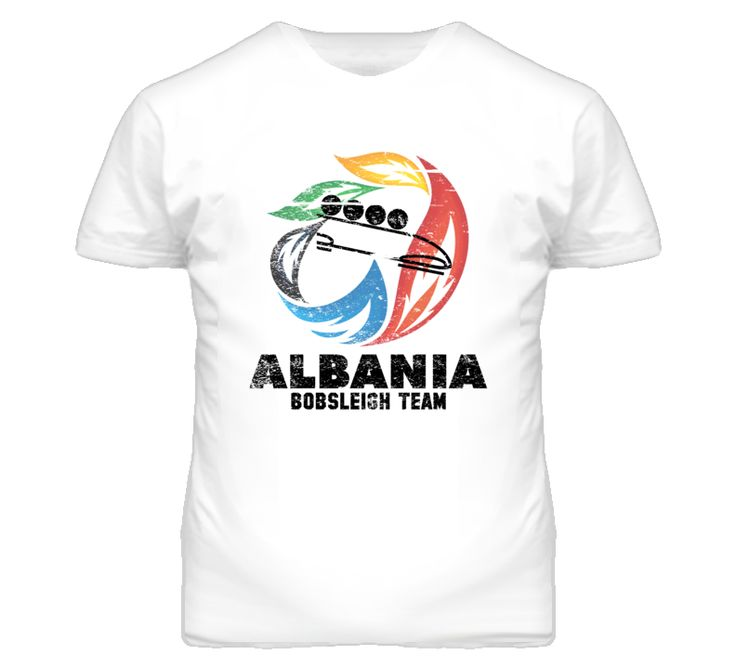 Albania Bobsleigh Team 2014 Olympic Sochi Vintage Distressed T Shirt