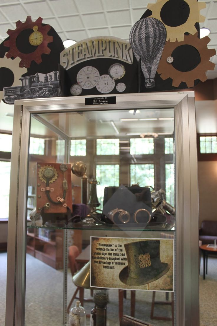 Steampunk Library Display For The 2013 Young Adult Summer Reading Program  Theme