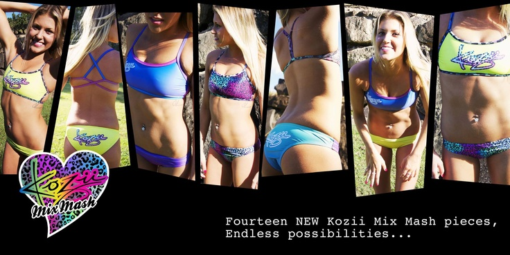 MIX MASH - so many colours to mix mash to make your perfect pair of Kozii's. The new Rosie back now available at www.kozii.com #rosie #mixmash #kozii #swimwear #women #sport #swimwear