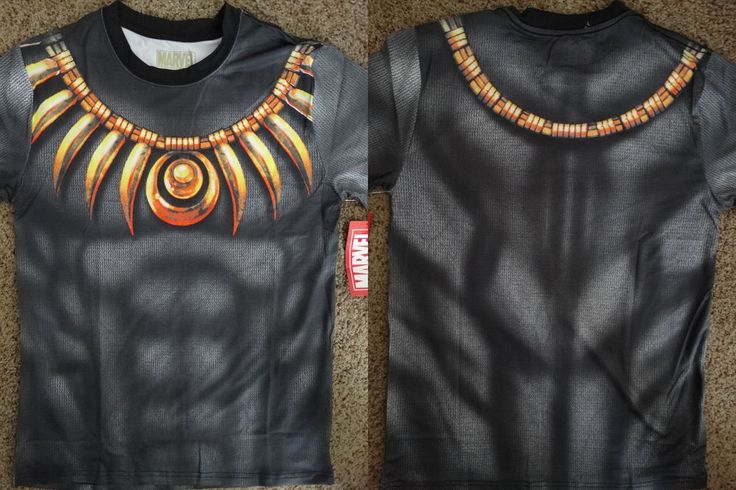 Black Panther Marvel Costume Front And Back Sublimation Print T-Shirt #BlackPanther #GraphicTee