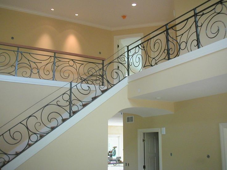 Ideas for the home   Wrought iron scroll work railing   Custom Metals   Madison, WI
