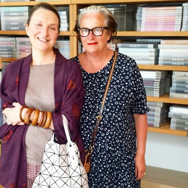 Milan Design Week 2015  Trend forecaster Lidewij Edelkoort and stylist Beatrice Rossetti at Society Limonta store