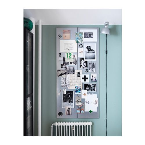 """SPONTAN Magnetic board  - IKEA - $13 for each - for headboard - 30.7553"""" Long and 14.5"""" wide - would need 4 to go across her full bed"""